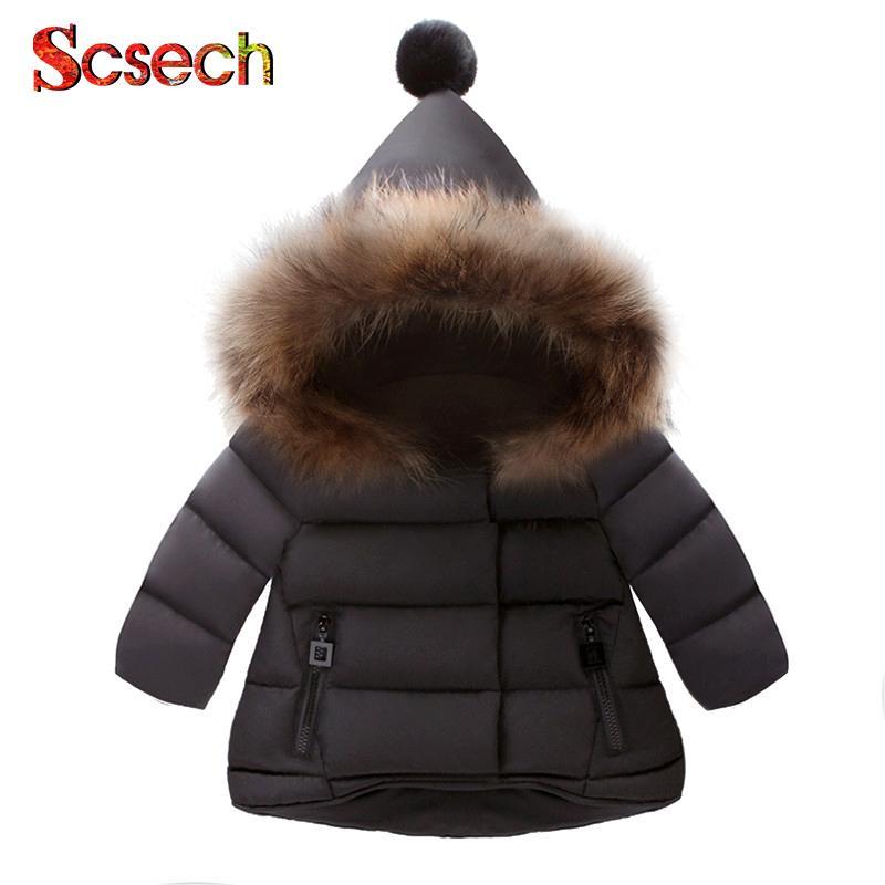 66062bb3c New Baby Girls Boys Jackets Autumn Winter Jacket Kids Warm Hooded ...