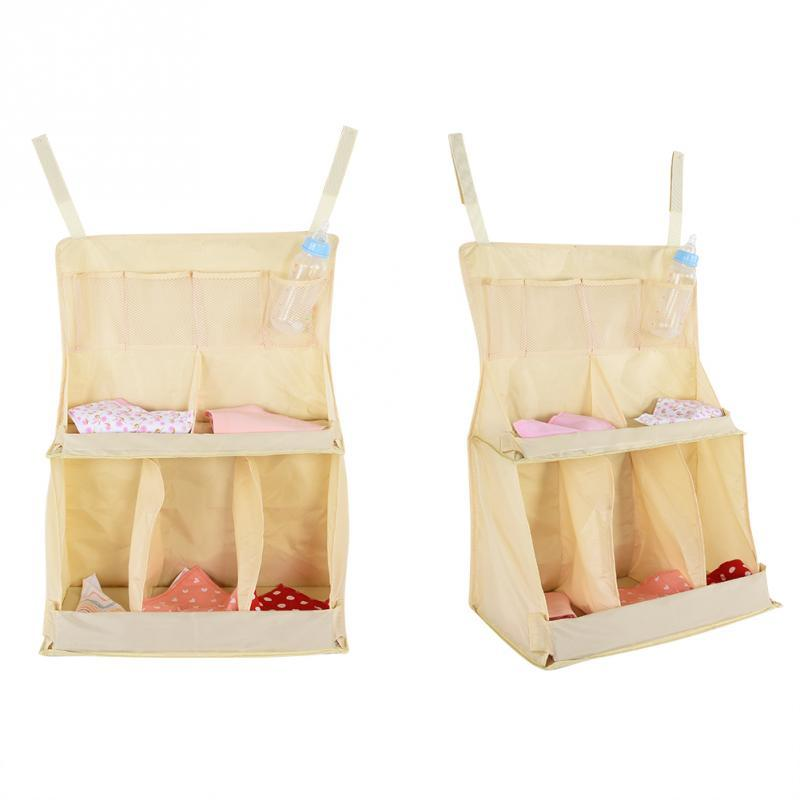 Waterproof Baby Bed Hanging Bag Crib Organizer Bag For Diapers