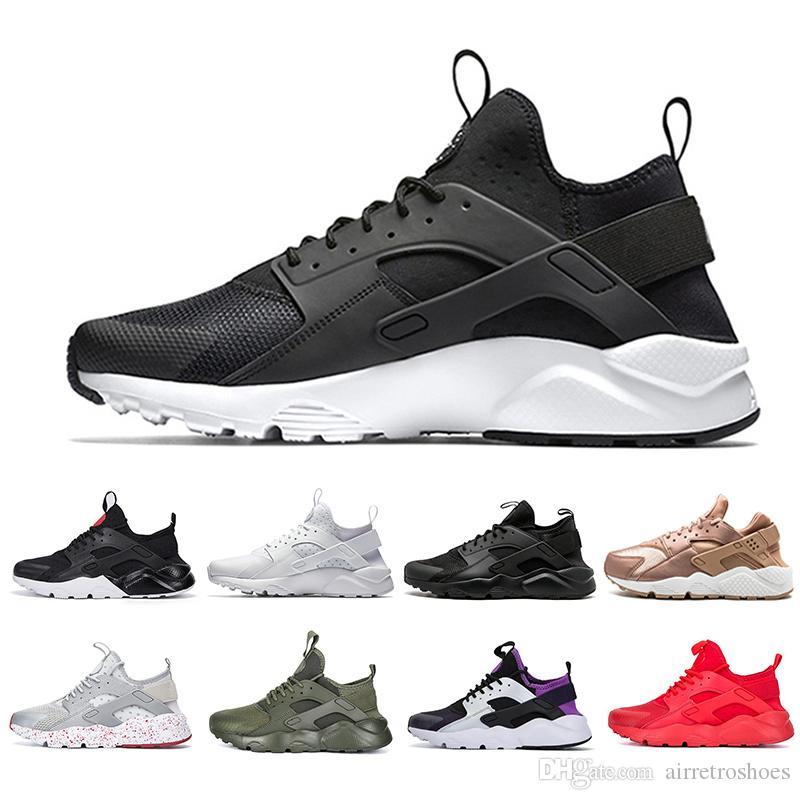 new products bd519 b2b82 Acheter SUP AIR ACE Huarache 4.0 IV 1.0 Chaussures De Course Classique  Triple Blanc Noir Noir Hommes Femmes Marque Huaraches Luxe Sport Sneakers  De  81.31 ...