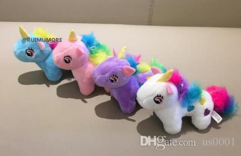 Cute Medium 10CM Approx. 4Colors- Unicorn Stuffed Animal Plush Toys Gift key chain Plush DOLL TOY