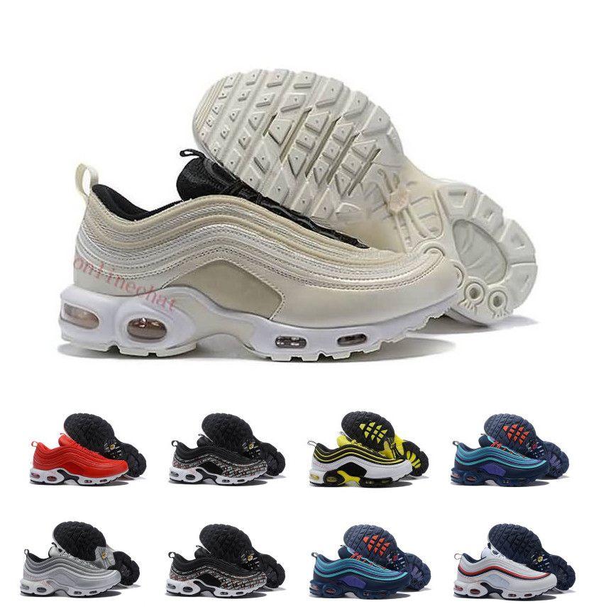 new styles 174f4 43609 Acheter Ventes Chaudes Hommes 97 Plus Chaussures De Course Chaussure Homme  97s Argent Métallique Or Sports Athletic Run Chaussures De Plein Air  Baskets ...