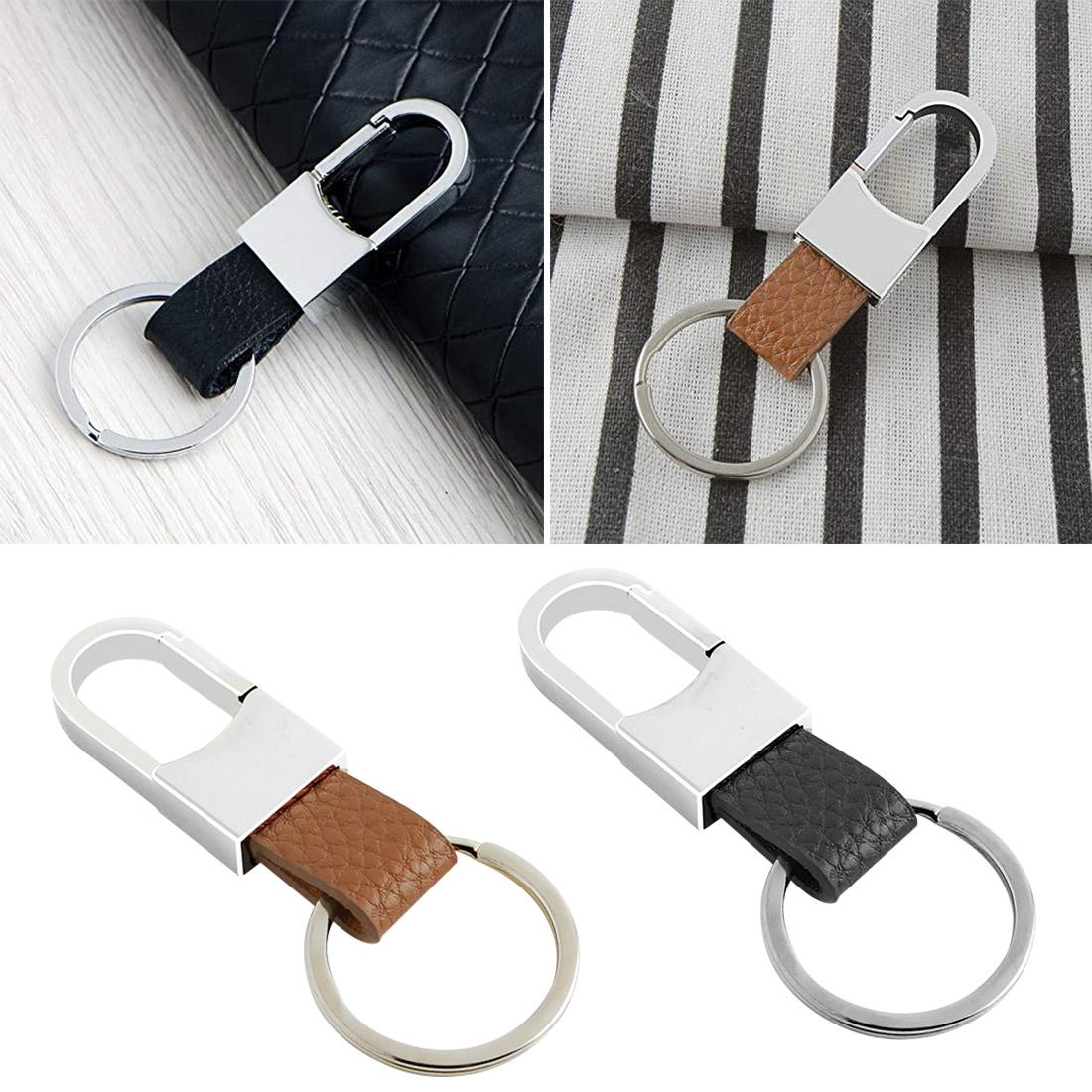 Mens car key chain Car Key Ring Cover Metal Chain for All models 1PC Keychain Leather Car-styling car