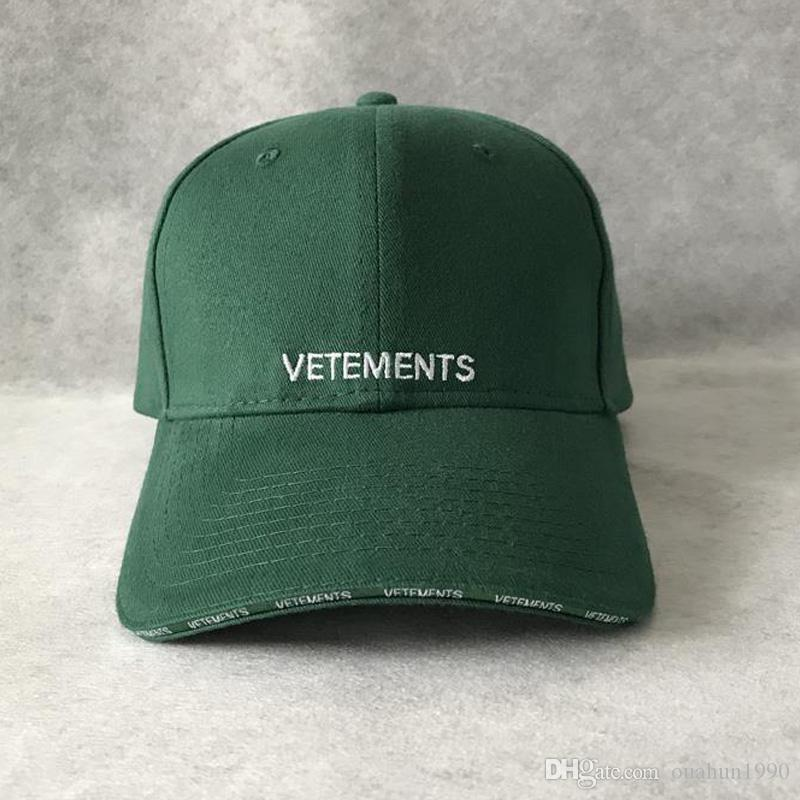 Vetements Embroidery Baseball Cap Snapback Hip Hop Drake Men Women Camping  Hunting Outdoor Summer Visor Beach Sun Hats Trucker Caps Harajuku Mens Hats  ... cea4818a3067