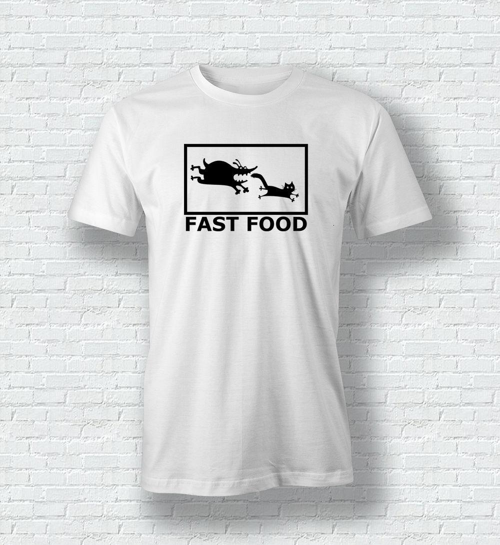 d5192d730 FAST FOOD Funny Cat Dog T Shirt Tee Top For Men Woman Children Brand Shirts  Jeans Print T Shirt Shirts Shirts And Tshirts From Goodcup, $16.24   DHgate.Com