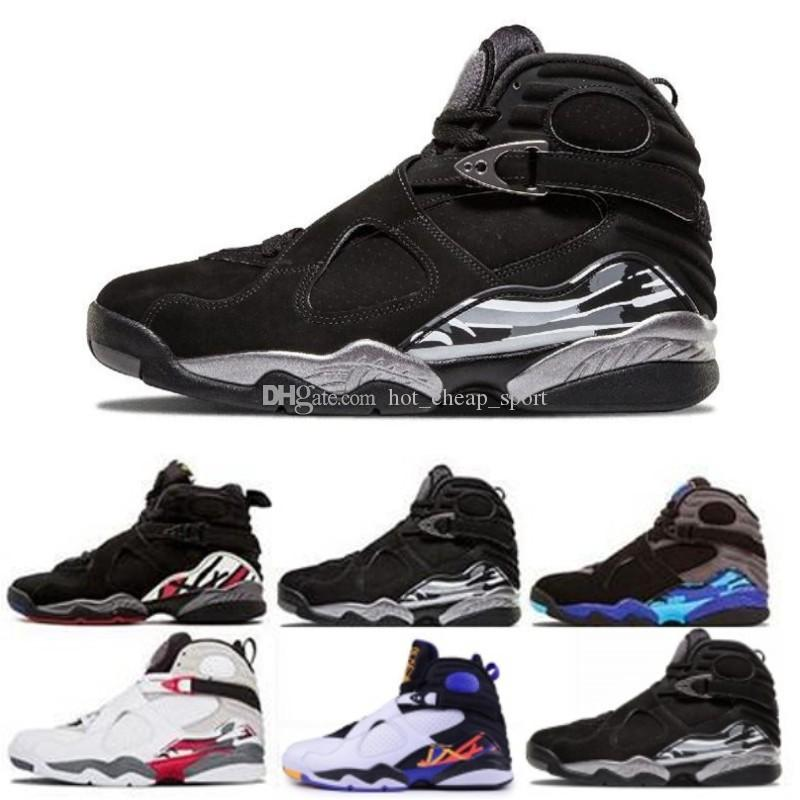 ef6dc749fd4081 8 Black Chrome Men Basketball Shoes Aqua Playoffs Countdown Pack Three Peat  Bred 8s Mens Sports Shoes Trainer Sneakers Us 8 13 Mens Loafers Designer  Shoes ...