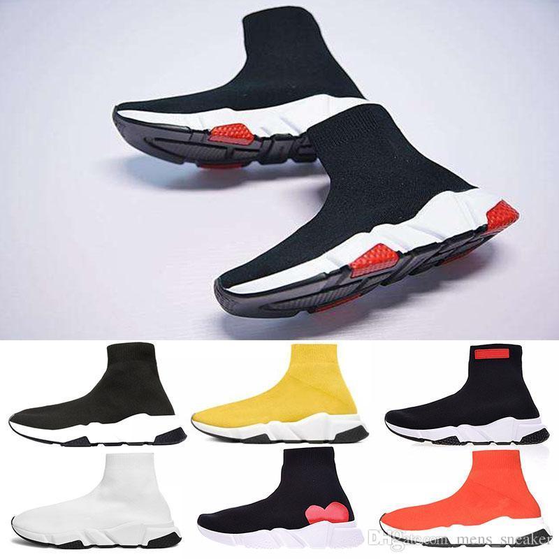 4e2fe21dad1 2019 Fashion Luxury Brand Designer Shoes Speed Trainer Speedm Black Red Mr  Porter Triple Black Flat Fashion Socks Boots Sports Sneaker 36 45 Cool Shoes  Naot ...