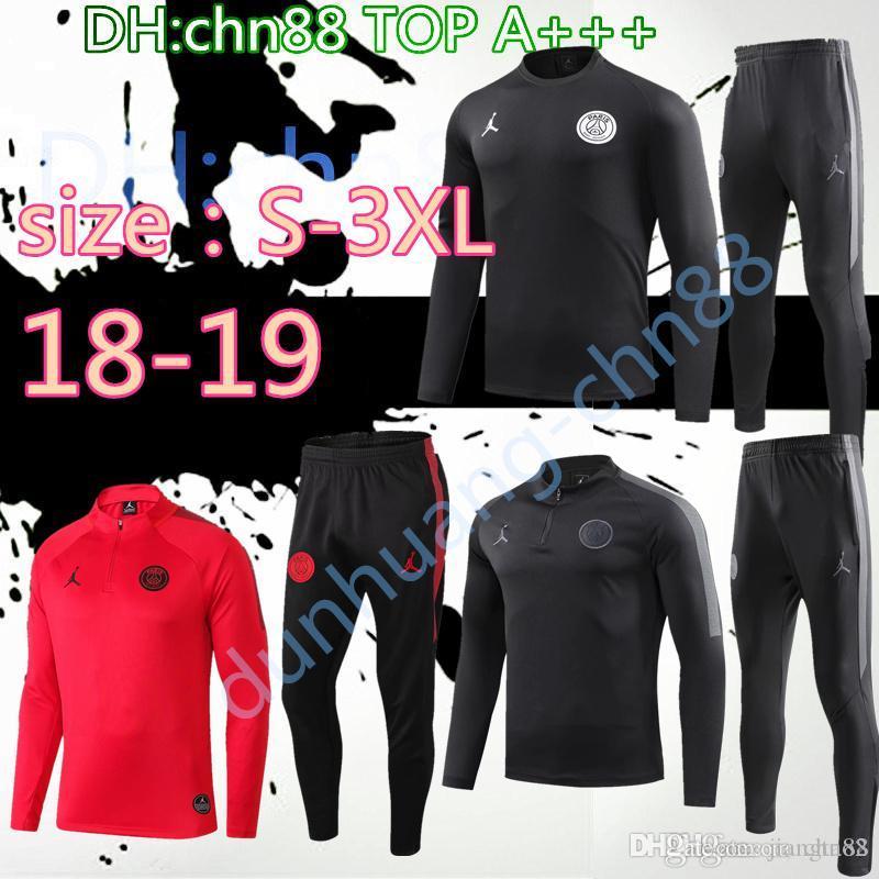 9e1227859 Size:S-3XL 2018 2019 MBAPPE Paris Jordam Jacket Tracksuit Kits 18 19 ...