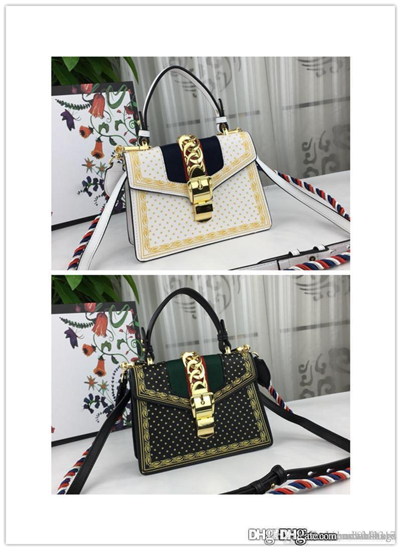 f56e3d3289fd 2018 Sylvie Mini Chain Embellished Mini Sylvie Red Floral Jacquard Top  Handle Leather Shoulder Bag Size  20 14 8 Cm Ladies Purses Tote Handbags  From ...