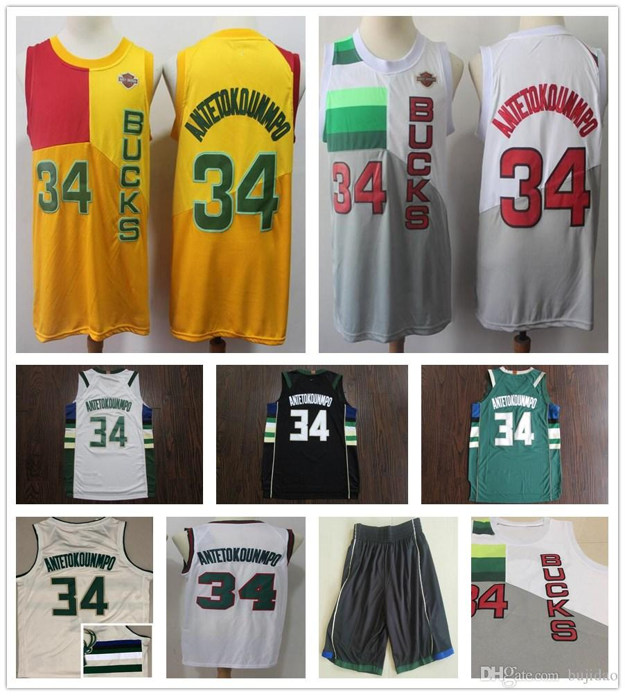 2019 Earned Edition Grey White 34 Giannis Antetokounmpo Jersey New City  Black Yellow Black Beige 6 Eric Bledsoe Jerseys Stitched Shirt Giannis  Antetokounmpo ... 93c676326