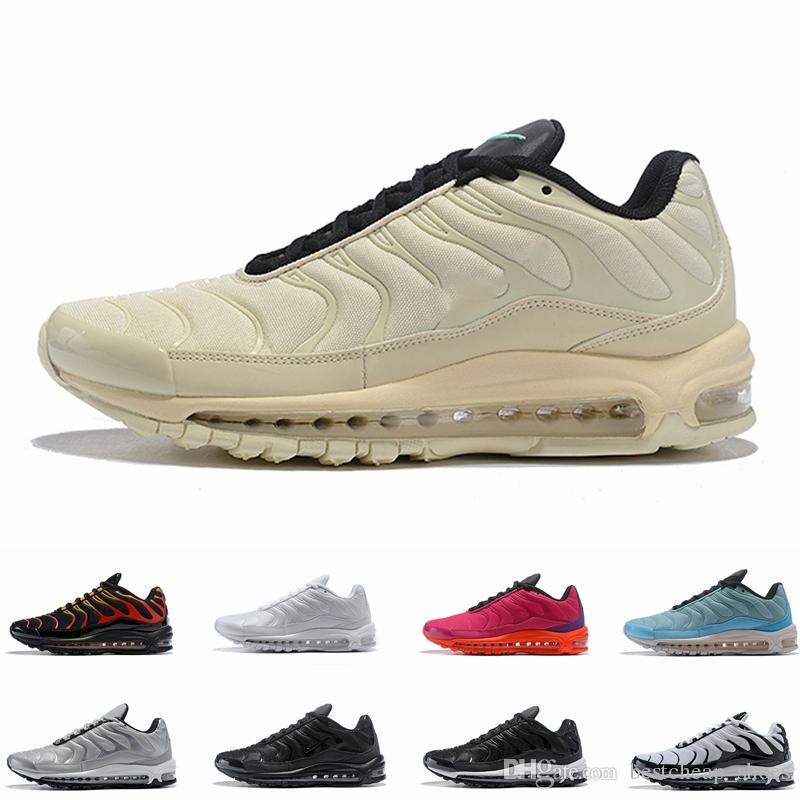 d64e5ce2554273 2019 97 Plus SE Tn Tuned Racer Pink Mens Running Shoes For Men Sneakers 97s  Tns Fashion Brand Black Shock Orange Womens Trainers From Bestcheap shoes