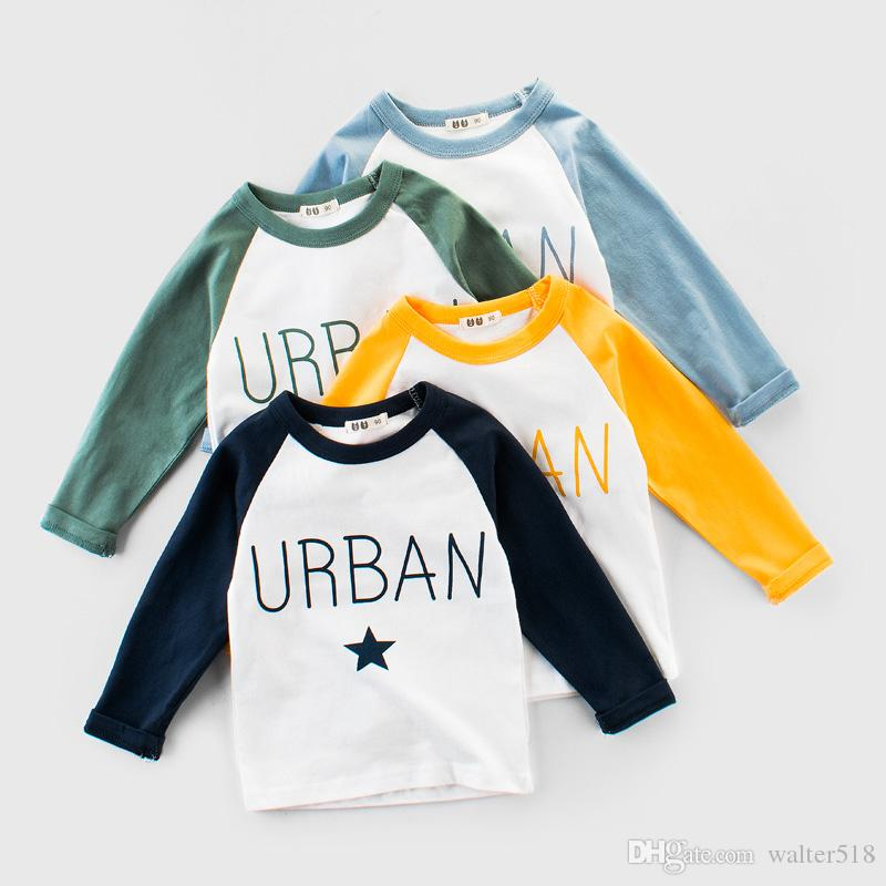 86e91951a 2019 Baby Boy Sweatshirt Cotton Shirt Brand Children Long Sleeve Tops Boys  Words Star Printing T Shirts Child Outwear BY 037 From Walter518, $9.05 |  DHgate.