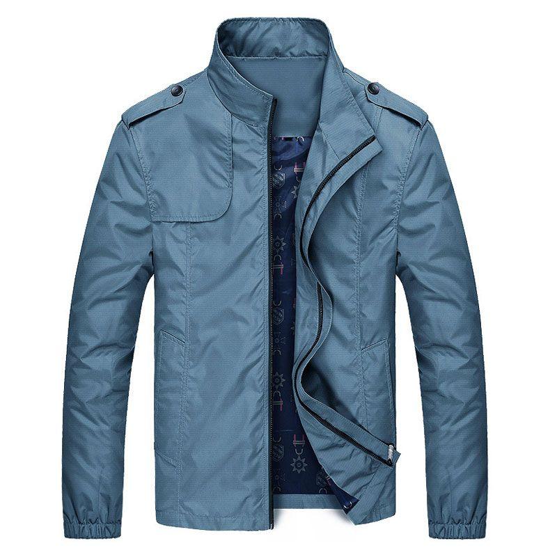 Men Jacket Solid Cotton Soft Comfortable Casual Coat Male Fashion
