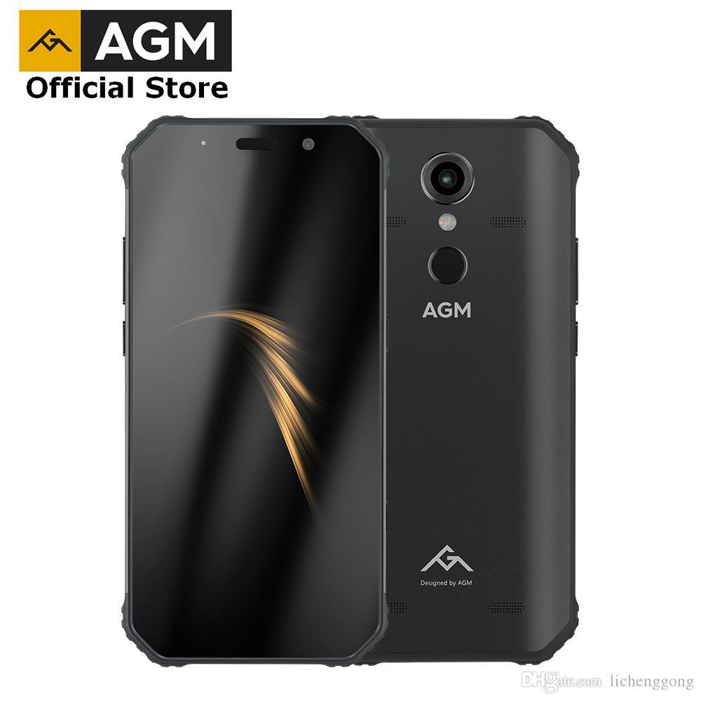AGM A9 JBL Co-Branding 5,99 4G 32G Android 8 1 Telefone Robusto 5400 mAh  IP68 À Prova D Água Smartphone Quad-Box Falantes NFC