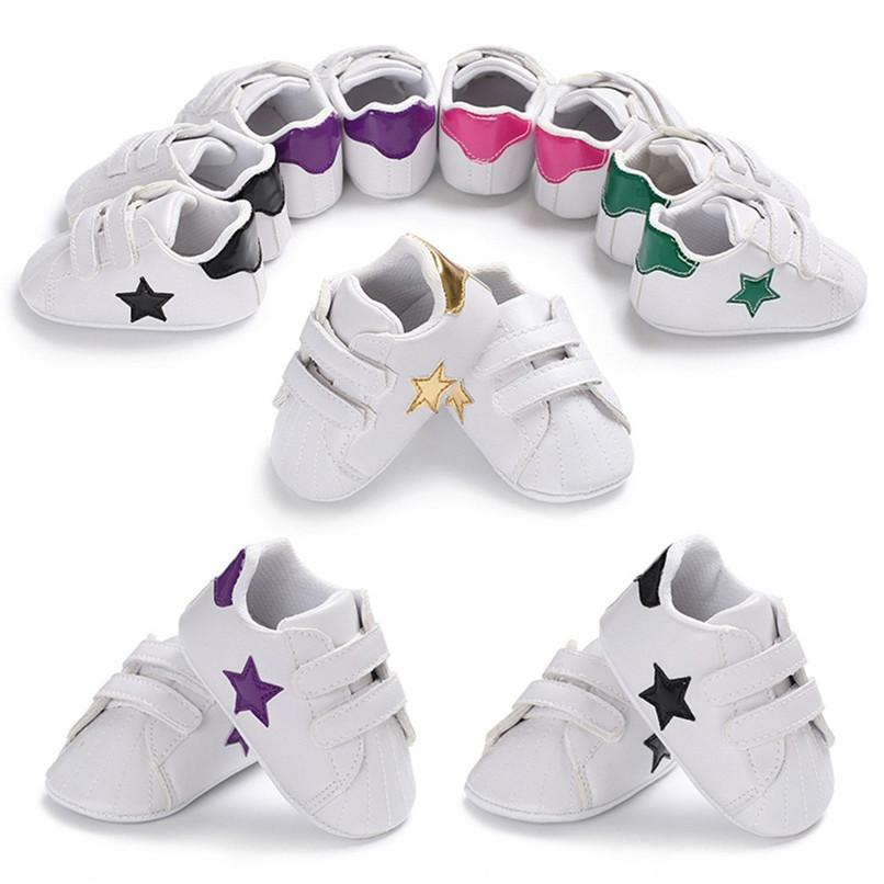 0bbaf09e Compre Zapatos De Bebé Niño Infantil Bebé Niñas Niños Estampado De Estrellas  Suela Suave Zapatillas Antideslizantes Bebé Primeros Zapatos Walker JE21 #  F A ...