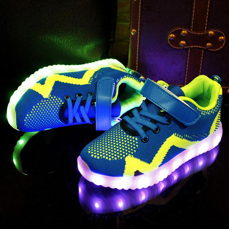 Kids Light Up Shoes For Kids Boys Glowing Sneakers For Boy&girl Usb Charging Illuminated Krasovki Luminous Sneakers Led Shoes Y190525