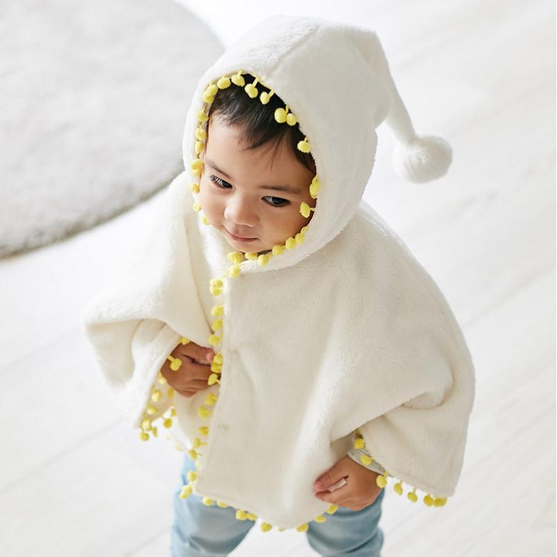 7df2569a2a92 0-3Y Kids Infant Baby Girls Warm Flannel Cloak Jackets Coats Autumn ...