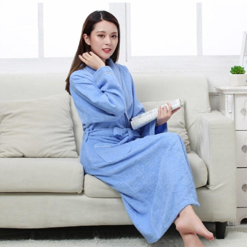9f216264bf 2019 Women Men Cotton Terry BathRobes All Seasons Couple Robe Hotel  Bathrobe Soft Breathable Absorbent Sleepwear Night Gown Hombre From Carawayo