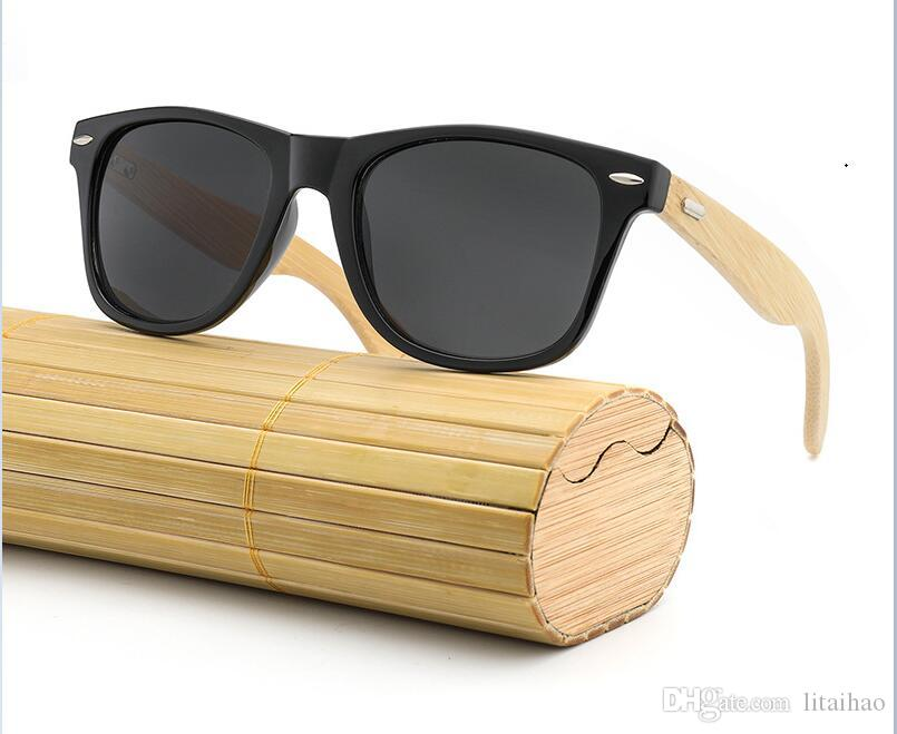 4f1091be4c02 New!! HDCRAFTER Luxury Designer Sunglasses Bamboo Frame Female Ladies Color  Plating Film Anti Glare Outdoor Trend UV400 Sun Glasses