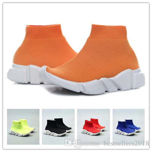 Infant & Children Kids running shoes Speed sock High Sneaker Tess Mesh outdoor Sports shoes toddler boy & girl Trainer stretch-knit