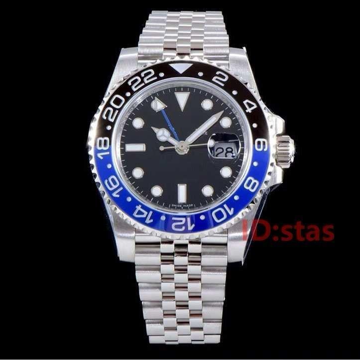 Bleu Montre Noir Gmt Date Mode Mécanique Jubilee De Montres Lunette Homme Bracelet Hommes Luxe Céramique Automatique Designer iuOkPZX