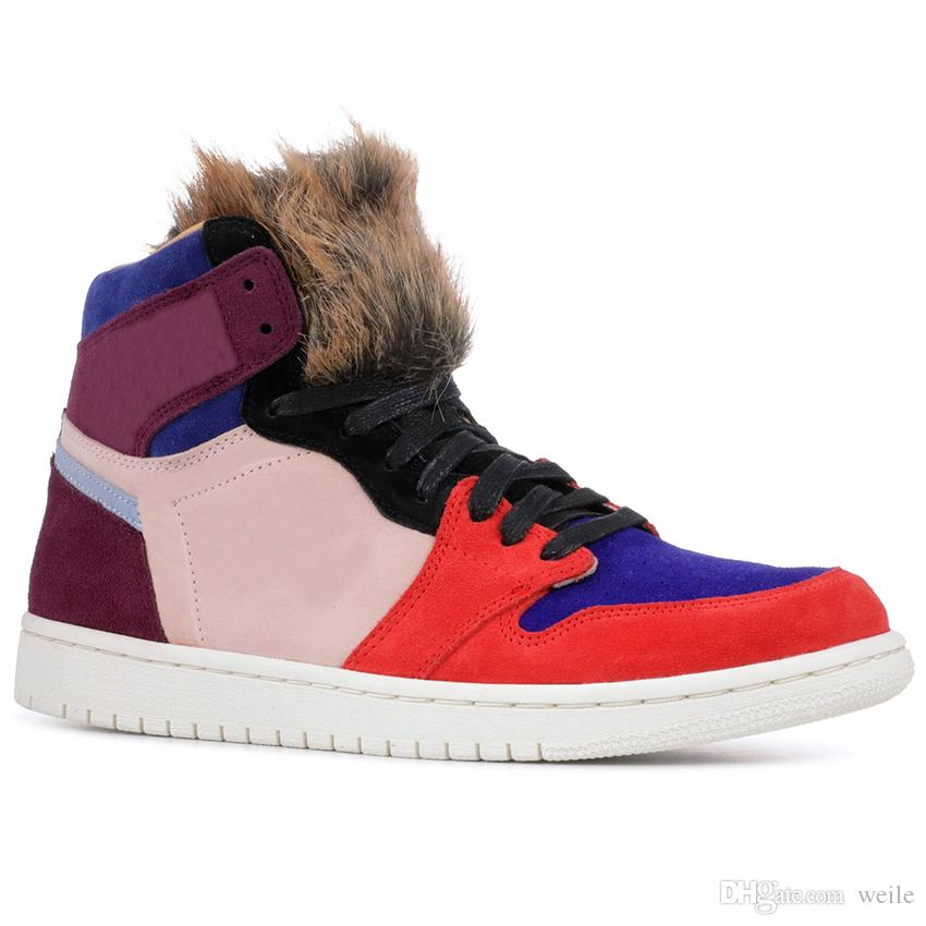 f14fa65933b1e7 2019 2019 New Release Aleali May Basketball Shoes 1 1s Viotech Designer Shoe  Bordeaux Sunset Tint Rush Red Light Armory Blue Fur Sports Sneakers From  Weile