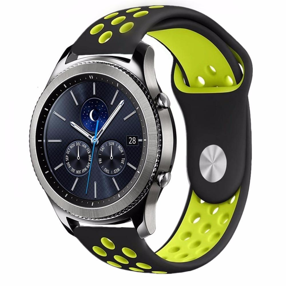 selezione migliore 0fb6a 382a0 Gear S3 Frontier per Samsung Galaxy orologio attivo 46mm 42mm Gear sport  amazfit bip Strap huawei watch GT 2 Band