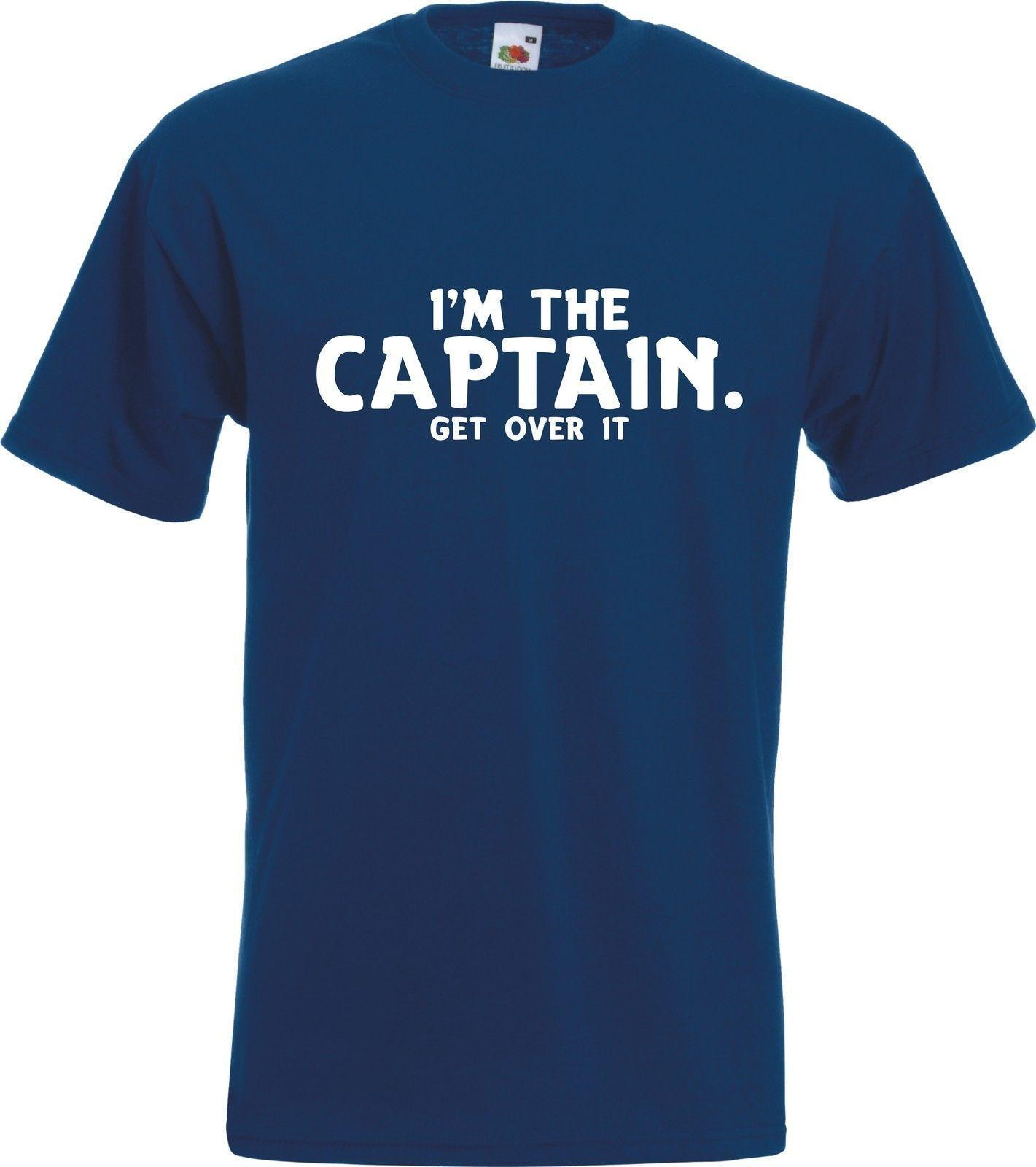 1d2bc4e7b I'M THE CAPTAIN - GET OVER IT - Funny Boating Yachting Boat Gift T-Shirt  Tshirt Funny free shipping Unisex Casual