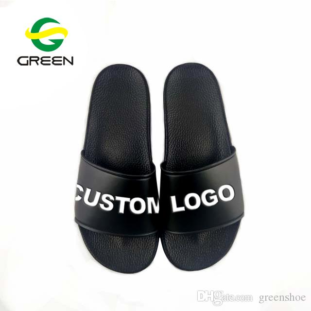 e44406428edd29 OEM Black Blank Slippers
