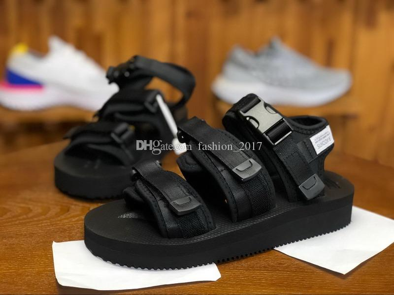 New Top Quality SUICOKE MOTO VS CAB KAW 18ss Sandals For Men Women Fashion CLOT Slide Black Red Slippers Sandal