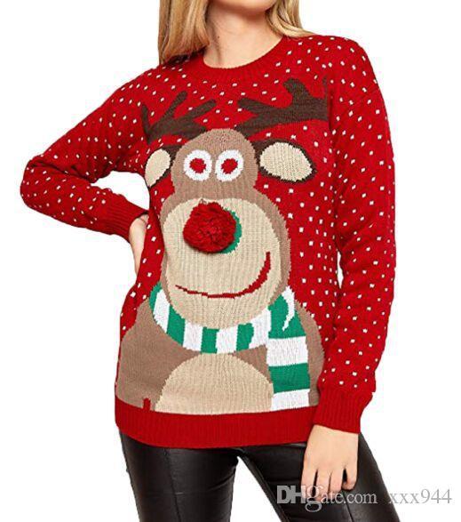 Compre 2018 Nuevos Suéteres Para Mujer De Invierno Casual Cuello ... 96666863c037