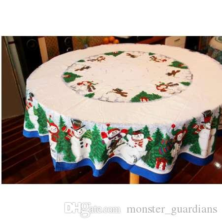 Christmas Tablecloths.Winlife Cute Snowman Christmas Tablecloth Pine Tree Christmas Table Cloths