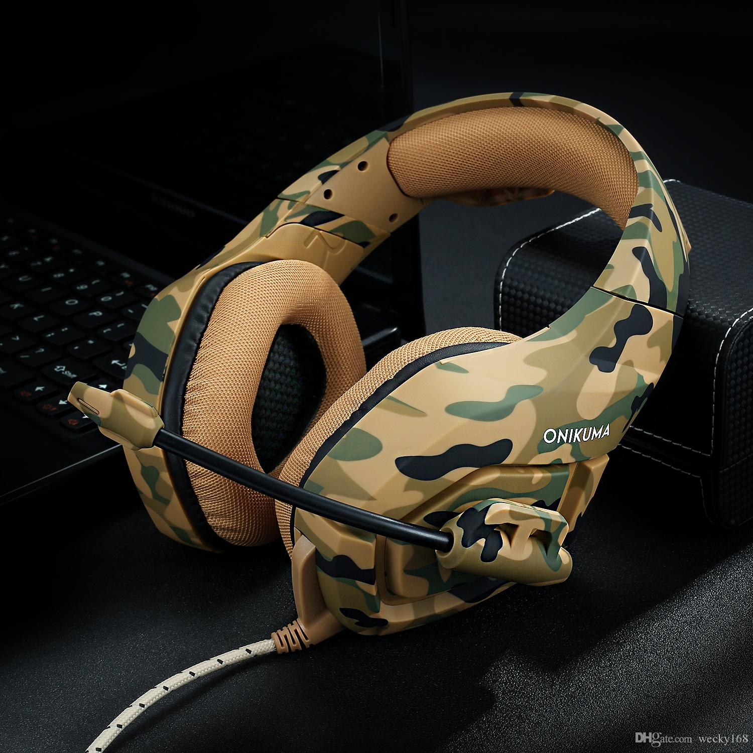 Gaming Headset Work For PC PS4 Xbox One Controller,Camo Over