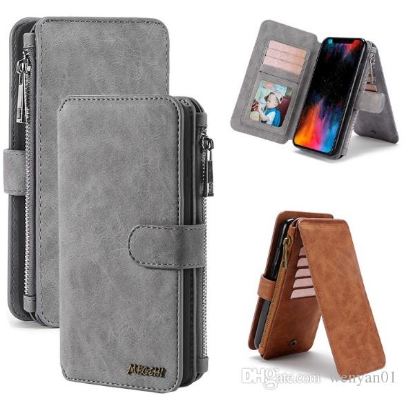High Quality Luxury Vintage Flip PU Leather Case Wallet Stand Card Slot Cover Money Pocket Photo Frame Bag for iPhone X XS XR MAX 8 7 6s
