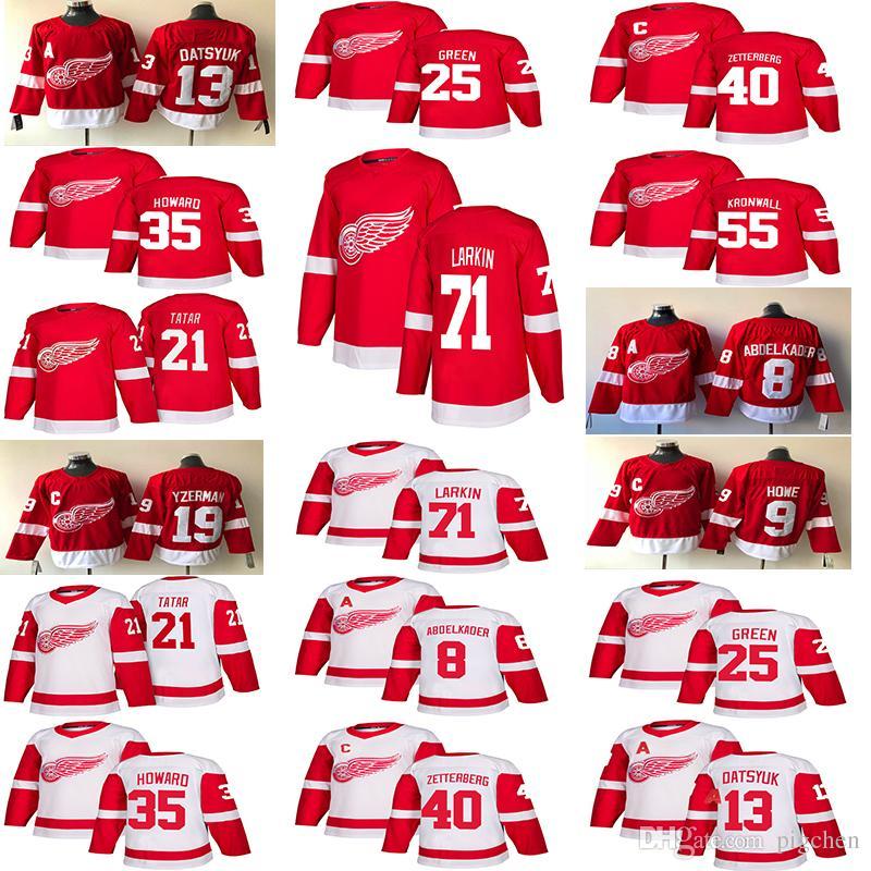 80457fb29 2018-2019 Detroit Red Wings Jerseys Hockey 13 Pavel Datsyuk 40 Henrik 8  Justin Abdelkader 19 Steve Yzerman 71 Larkin 9 Howe 21 Tatar Hockey Hockey  Detroit ...