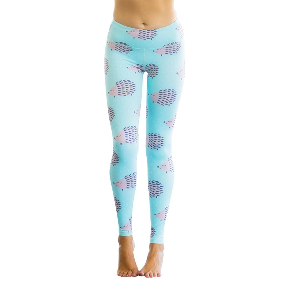 153eaac497b7f8 2019 Hot Sale Sport Leggings Yoga Pants Polyester Elastic Waist Women  Hedgehog Print Sports Gym Yoga Running Fitness Pants Workout From  Happy_sport, ...