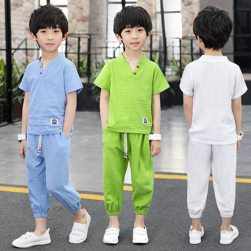 647c9a1d96ad4 Satın Al Sıcak 2019 Bebek Erkek Giyim Yaz Çocuk Çocuk Setleri İki Adet Suit  Boy Spor Pamuk Suit Ücretsiz Kargo 3 12 Yıl, $31.17 | DHgate.Com'da