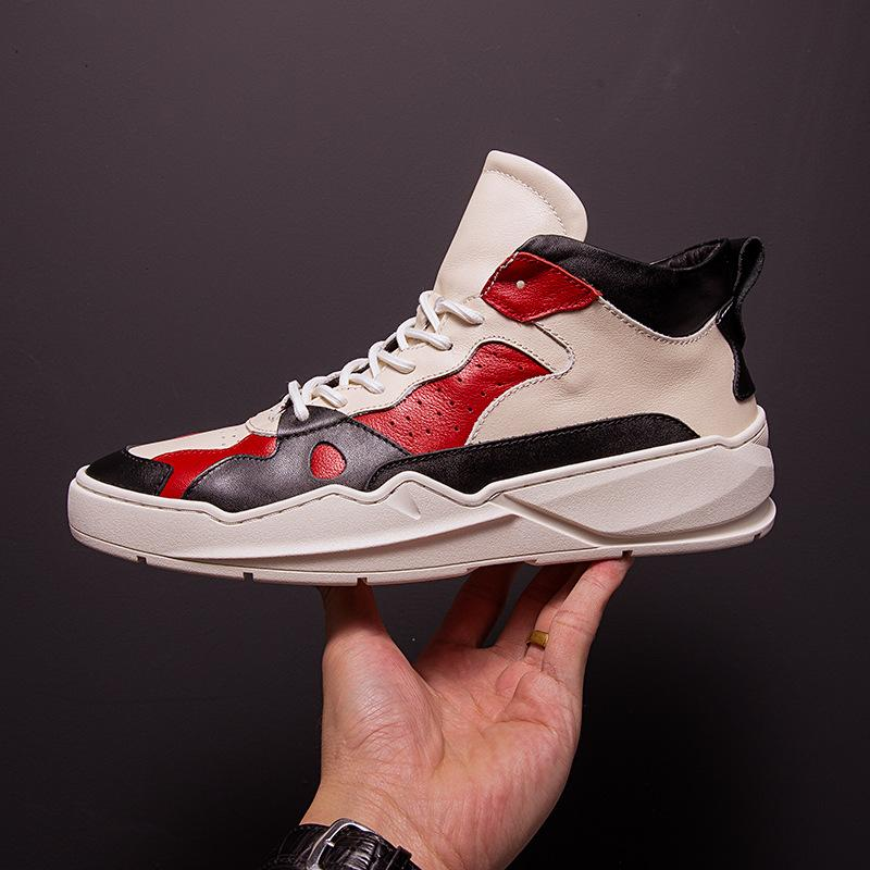 Compre Zapatos De Hip Hop Para Hombre Cuero Genuino Otoño Invierno Nuevos Zapatos  De Caña Alta Para Hombre De Todo El Fósforo De Piel De Vaca Botas De ... fdbb9f6b6d4
