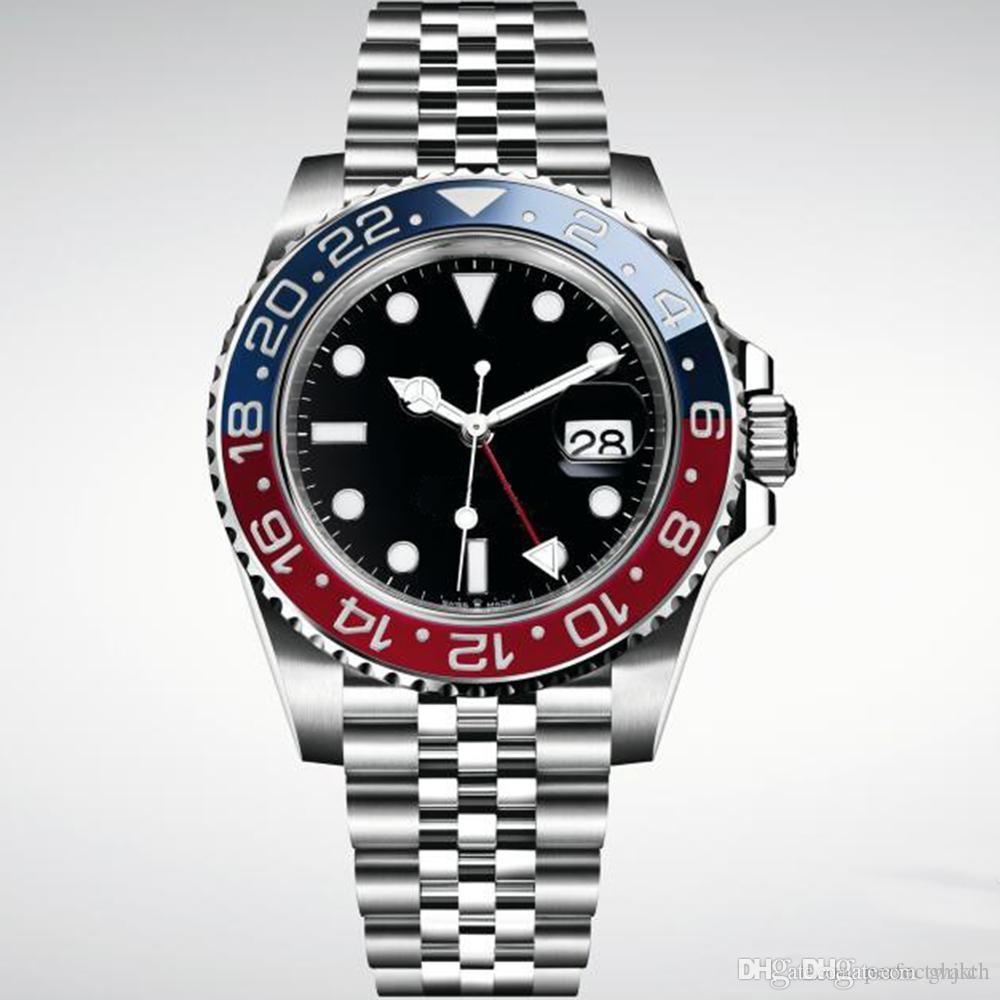 Nuovo orologio da uomo di lusso in acciaio rosso blu di Basilea rosso orologio 126600 movimento automatico orologio da uomo nuovo arrivo spedizione