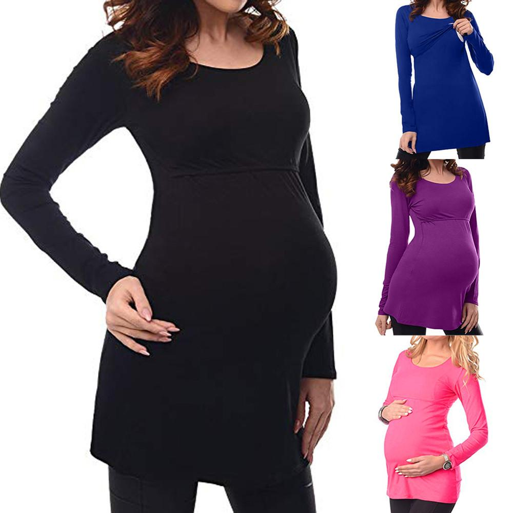 c04c1cf586 Cheap Blouse Women Maternity Cute Nursing Tops Maternity Clothes