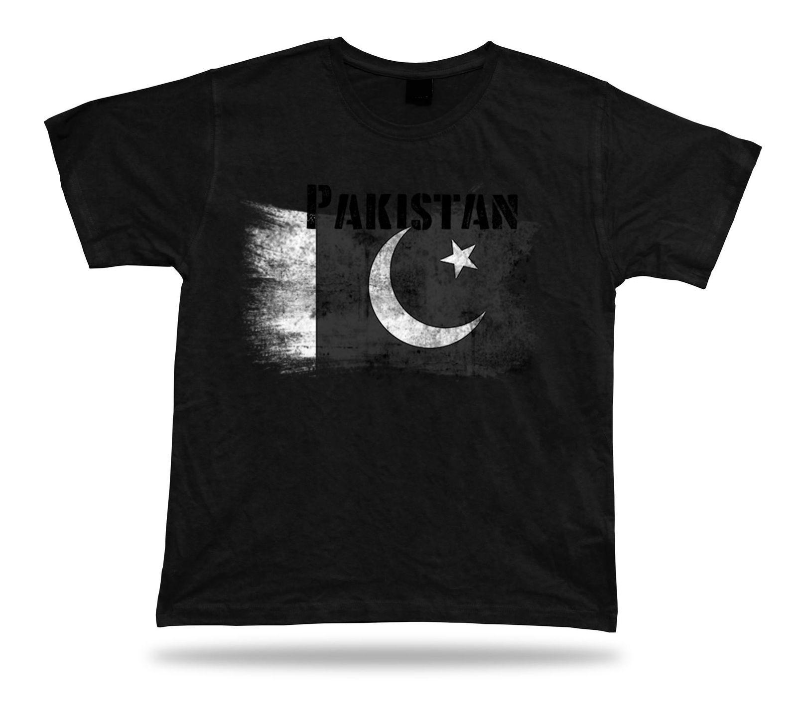 Pakistan flag Tshirt T-shirt Tee top city map Muslim League Mughal art  tricot 2018 New Leisure Fashion t-Shirt men