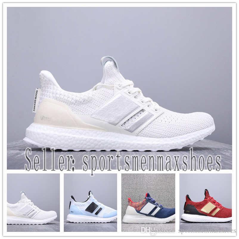 big sale 9a903 1127c 2019 Designer shoes Adidas NMD men women CNY Ultra boost 4.0 IV Матовый  черный кроссовки Oreo Game of Thrones Мужчины ...