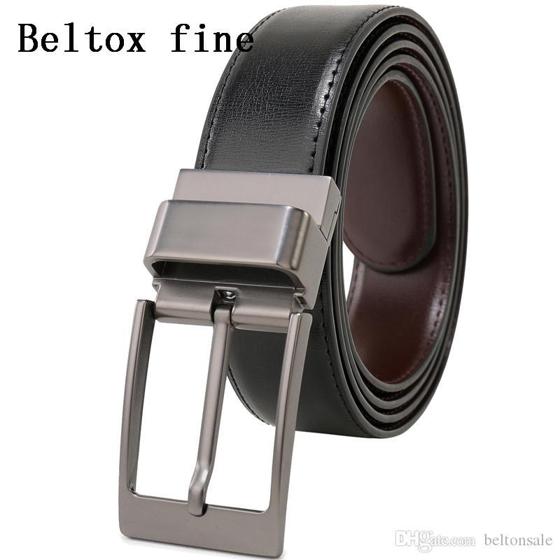 3b46bf18f Compre Cinturones Para Hombres Cinturón De Vestir De Cuero Genuino  Reversible Con Cinturón De Diseño Reversible Con Hebilla Girada De 3.4 Cm  De Ancho A ...