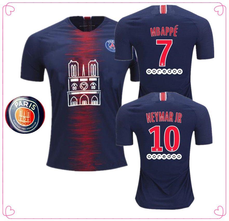 cheaper d0b6d 0927e 2019 PSG Notre-Dame mens t shirt Soccer Jersey paris saint germain MBAPPE  football Shirt 18/19 Notre Dame de Paris maillot de foot