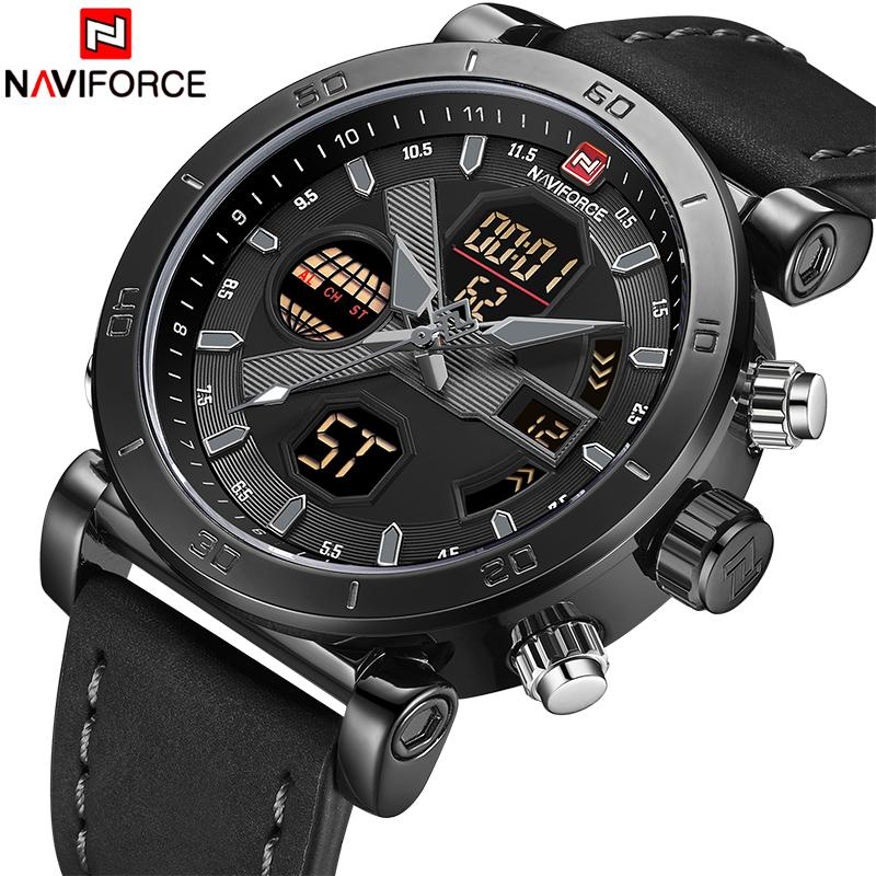 s Watches Quartz Wristwatches NAVIFORCE Luxury Men's LED Analog Quartz Watch Men Army Military Sport Watches Male Waterproof Date Wristwa...