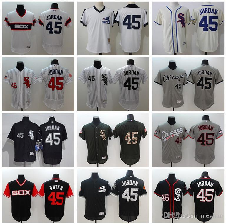 74eb4c81548e95 2019 White Sox Jersey Custom Men Women Youth Majestic White Sox Jersey  45  Michael MJ Black White Baseball Jerseys From Wddsport