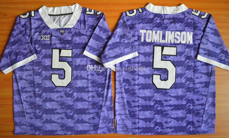 huge discount 26cdb 5e54b New Arrival American Football college stitched mens sports new Jerseys 2016  LaDainian Tomlinson #5 TCU Horned Frogs embroidery size S-XXXL