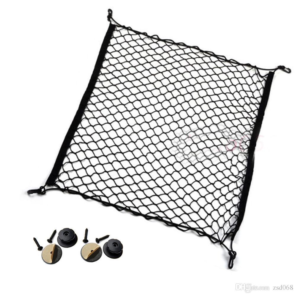 For Toyota SUPRA Car Auto vehicle Black Rear Trunk Cargo Baggage Organizer Storage Nylon Stowing Vertical Plain Net