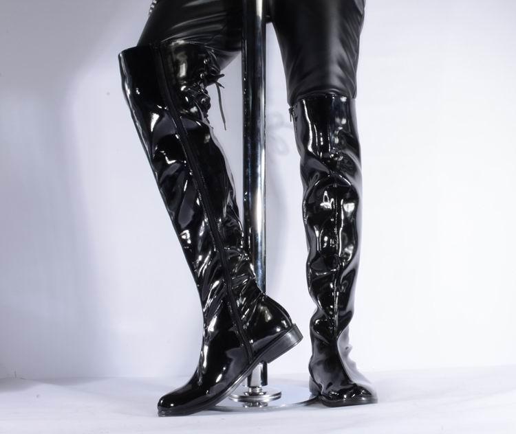 3bbc662081 Großhandel ERRFC Neue Herren Schwarz Overknee Stiefel Luxus Lackleder  Stiefel 55 Cm Hoch Med Heels Mann Trending Schuhe Pole Dancing Von  Shoesbuddy, ...
