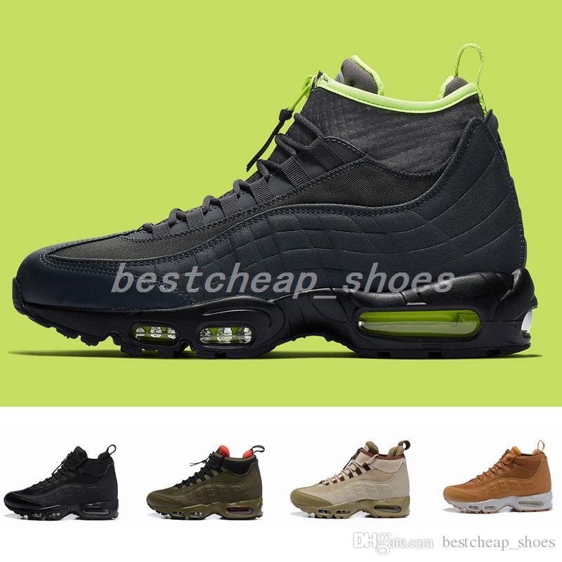 meet 3f8fc 30d73 2019 Nuevo 95 Aniversario MID Hombre Zapatillas 95s Sneakerboot Negro Verde  Deportes Lluvia Nieve Invierno Botas Hombre Zapatillas Diseñador Botas  Tamaño 12 ...