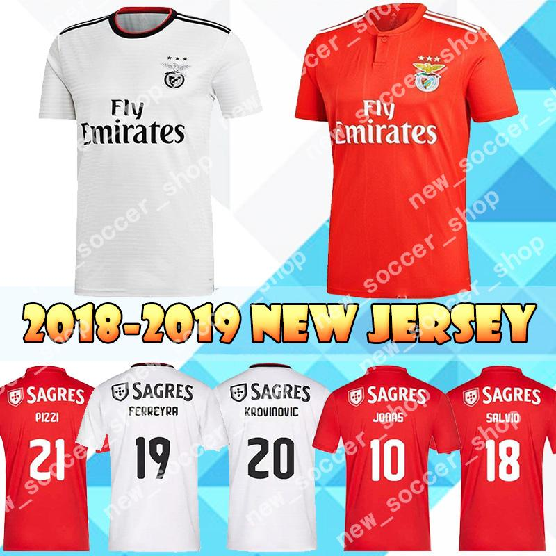 finest selection fa30b 4c77d 2019 Benfica Jersey 10 Jonas Home Soccer Jerseys 18 Toto Salvio Alex  Grimaldo Franco Cervi Pizzi Top sale Red Mens Football Shirts